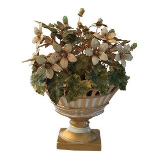 Jane Hutcheson for Gorham Enamel & Porcelain Flower Arrangement For Sale