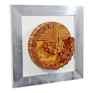 Mid-Century Modern Greg Copeland Dimensional Wood Wall Art Sculpture For Sale