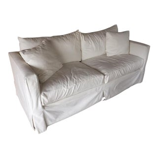 Crate & Barrel White Slipcovered Sofa