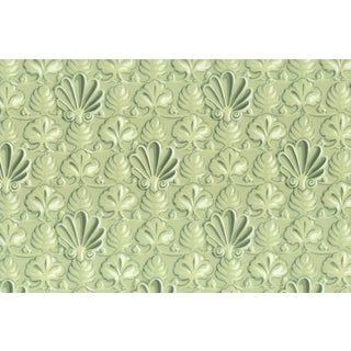 Vintage Bassett McNab Pistachio Shell Wallpaper - 10 Yard Roll For Sale