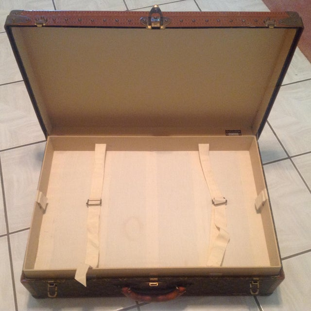 Mid-20th Century Louis Vuitton Hard Case Bisten Luggage For Sale In Palm Springs - Image 6 of 12