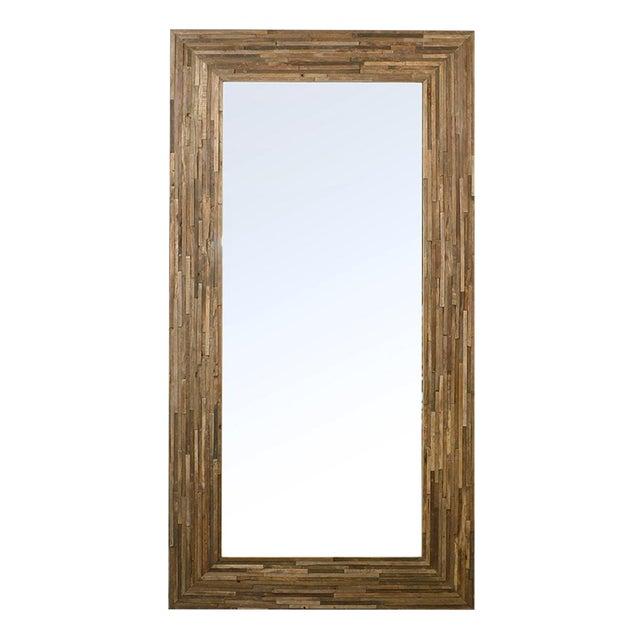 Reclaimed Wood Full Length Mirror For Sale