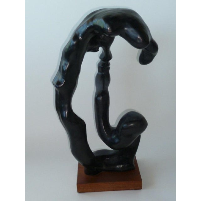 1970s Modern Surreal Portrait of a Woman Sculpture by Klara Sever For Sale - Image 5 of 6