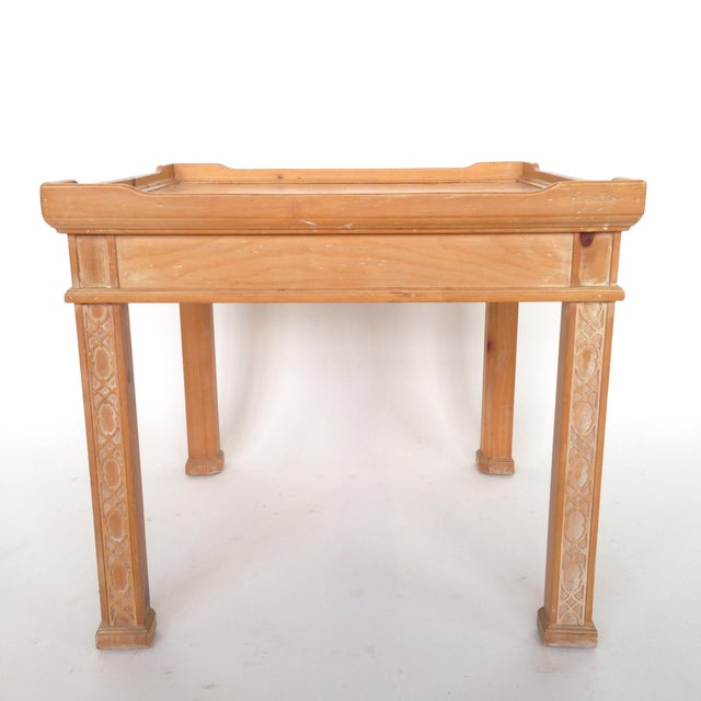 Century Furniture Knotty Pine Side Table - Image 2 of 6
