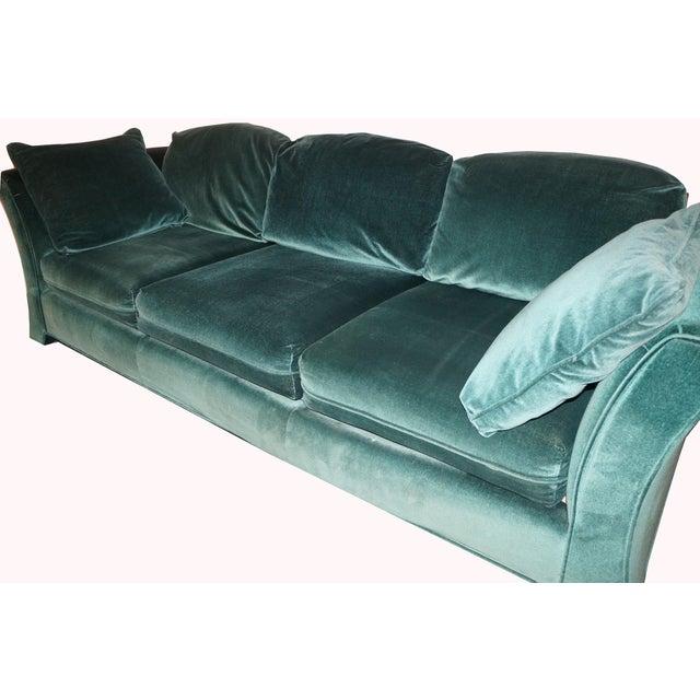 Broyhill Emerald Green Velvet Sofa - Image 3 of 7