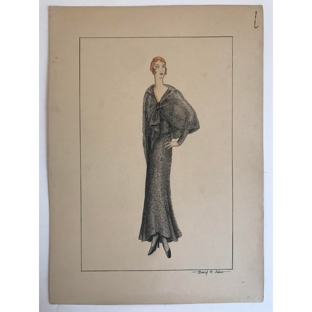 Twelve Fashion Designs by University of Washington Student, 1929 For Sale - Image 4 of 13