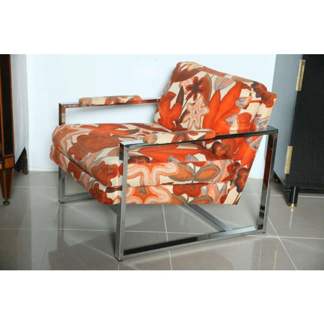 Mid-Century Modern A Pair of Milo Baughman Polished Chrome Club Chairs For Sale - Image 3 of 9