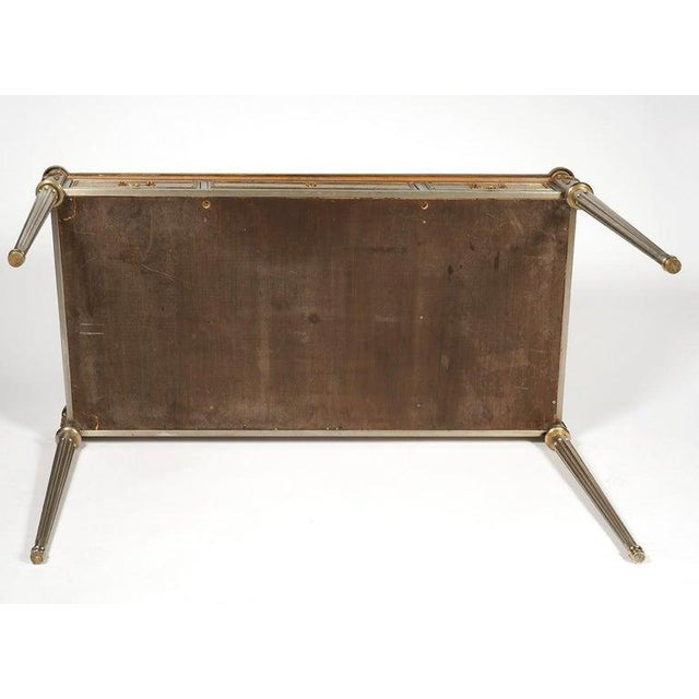 Metal John Vesey Mid-Century Modern Desk or Bureau Plat. Steel and Bronze For Sale - Image 7 of 12