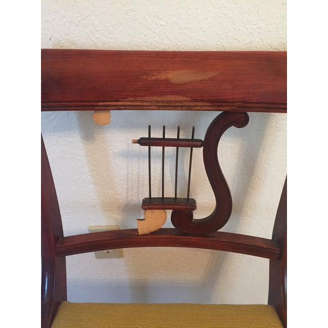 Drexel Heritage Vintage Mahogany Dining Set -Table and 6 Chairs For Sale - Image 9 of 10