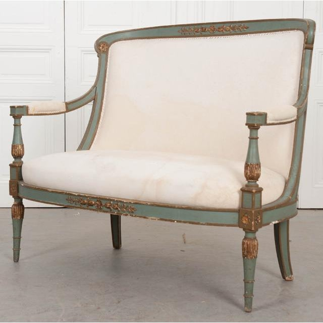 French 19th Century Parcel Gilt Empire Settee For Sale In Baton Rouge - Image 6 of 12
