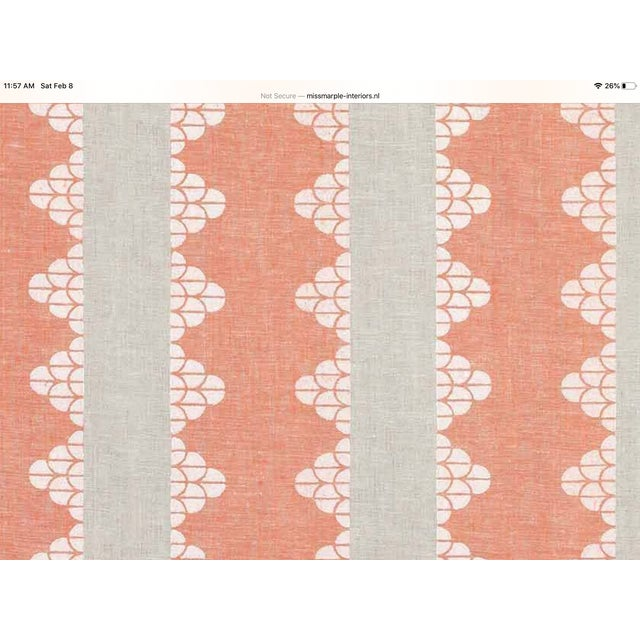 """Boho Chic Boho Chic Thibaut """"Dhara Stripe"""" in Orange and Natural Down Filled Pillows - a Pair, 22"""" For Sale - Image 3 of 4"""