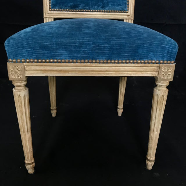 Mid 19th Century Classic 19th Century Louis XVI Dining Chairs Original Ivory Paint -Set of 8 For Sale - Image 5 of 13
