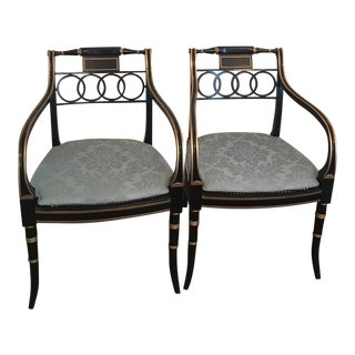 Baker Governor Alston Armchairs - a Pair