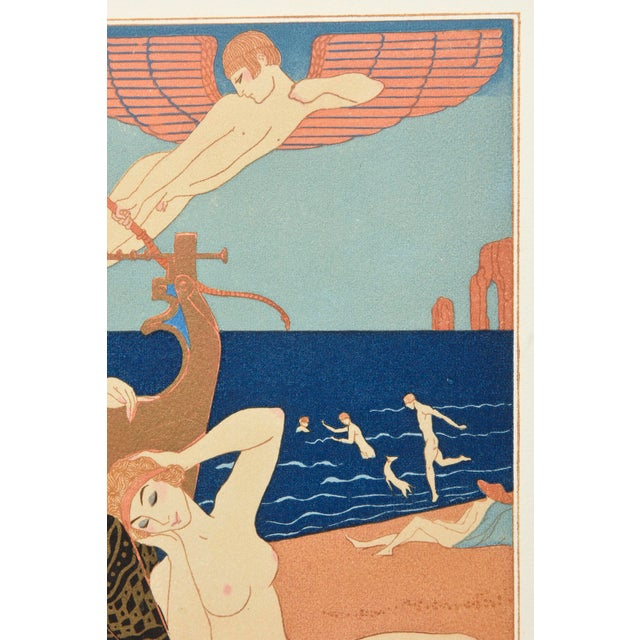 "Georges Barbier Custom Framed Pochoir from the Portfolio "" Chansons de Biilitis"" For Sale In Miami - Image 6 of 9"