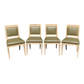 Set of Four 19th Century Regency Style Dining Chairs For Sale