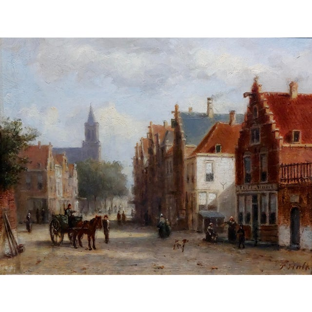 Impressionist Johannes Frederick II Hulk -19th C. Early Market Day in Amsterdam-Oil Panting For Sale - Image 3 of 11