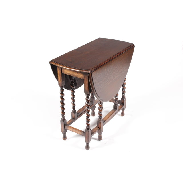 1920s William and Mary Gateleg Table For Sale - Image 4 of 5
