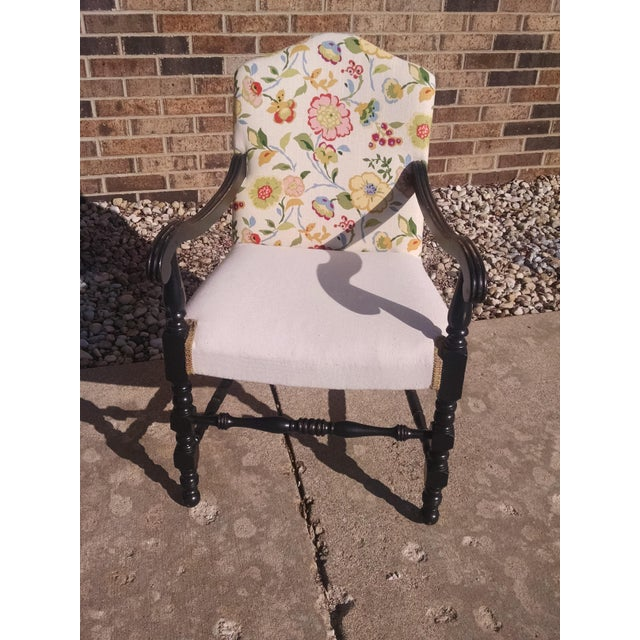 Vintage French Floral Accent Chair - Image 8 of 8