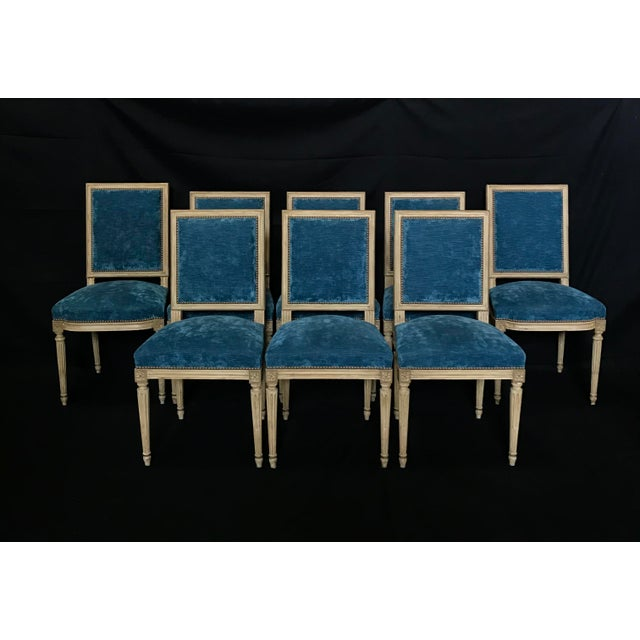 Classic 19th Century Louis XVI Dining Chairs Original Ivory Paint -Set of 8 For Sale - Image 13 of 13