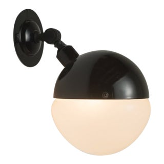 1960s Mid Century Italian Sconce Light Black For Sale