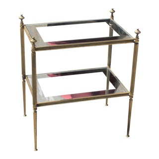 French Art Deco Maison Jansen Two-Tier Bronze Coffee or Side Table Circa 1940s