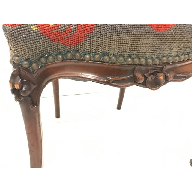 19th Century Art Nouveau Mahogany Side Desk Vanity Chair Attributed to Louis Marjorelle For Sale - Image 10 of 13