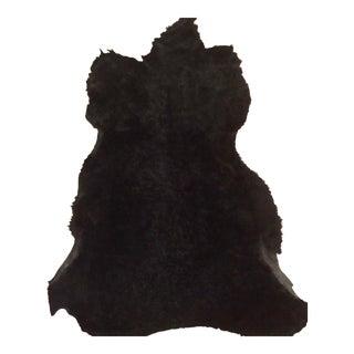 Black Animal Fur Rug For Sale