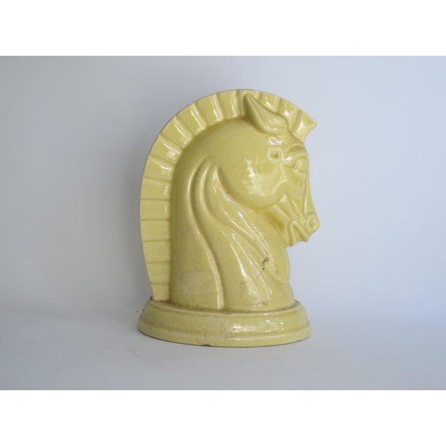Yellow Art Deco Ceramic Horse Head - Image 5 of 8