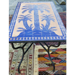 Moroccan Rectangular Blue Tree of Life Mosaic Dining Table Preview