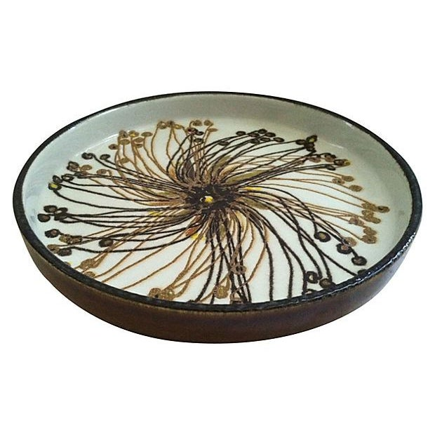 Danish Abstract Flower Dish - Image 1 of 4