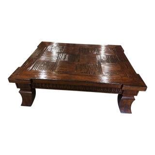 Italian Walnut Wood Coffee Table For Sale