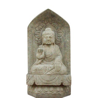 Large Stone Carved Buddha Statue For Sale