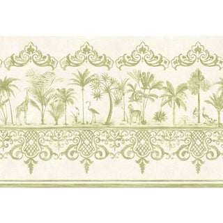Cole & Son Rou Border Wallpaper Roll - Old Olive For Sale