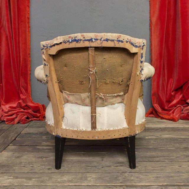 Pair of Small French Art Deco Style Tufted Armchairs For Sale In New York - Image 6 of 10