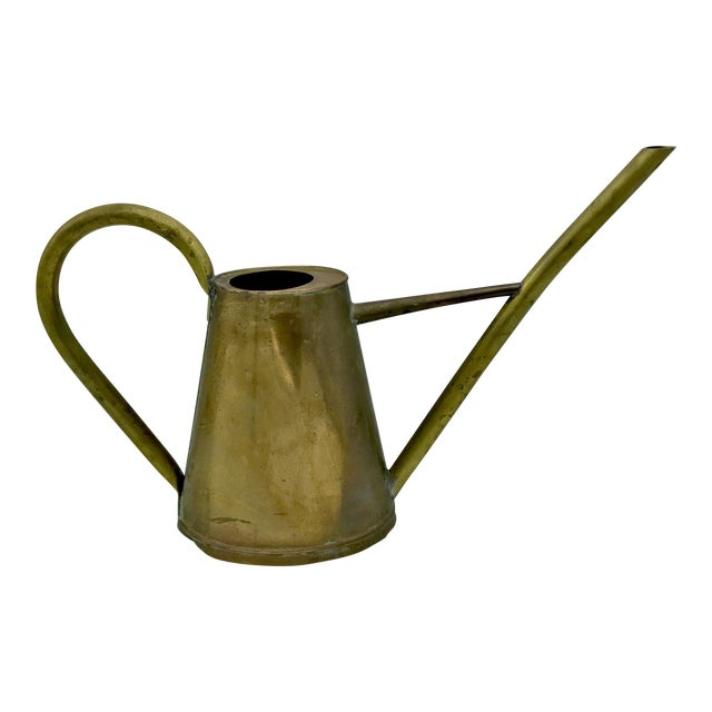 Vintage Brass Watering Can For Sale