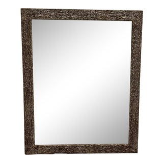 French Faux Bois Mirror For Sale
