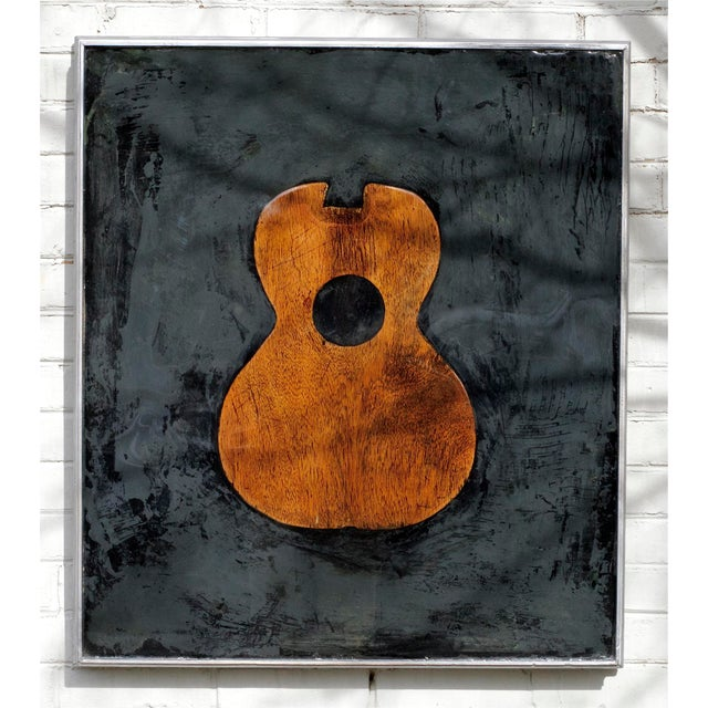 Iconography Guitar Decorative Resin Painting By Roderick Coles Chairish