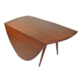 1960's George Nakashima Studio Made Walnut Drop Leaf Dining Table / Desk For Sale