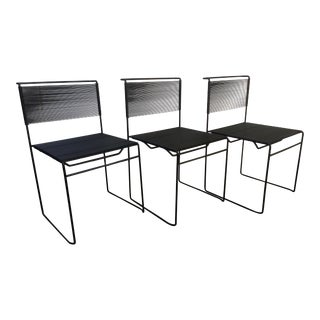 1970s Vintage Giandomenico Belotti for Fly Line Spaghetti Chairs- Set of 3 For Sale