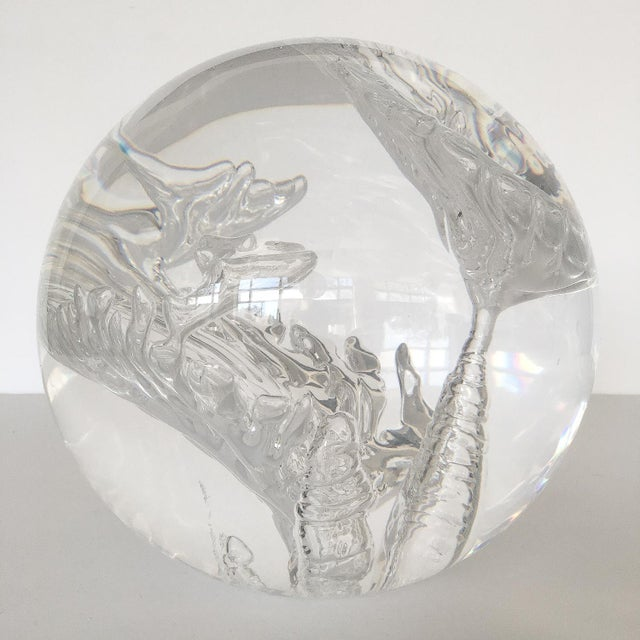 Suspended Bubble Inclusion Lucite Sphere Sculpture - Image 5 of 6