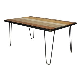Hairpin Leg Coffee Table in a Rustic MIX Design