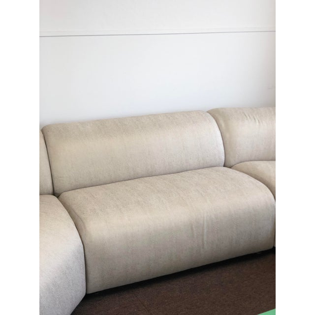 1990s Vintage Vladimir Kagan Curved Sectional Sofa For Sale In Detroit - Image 6 of 13