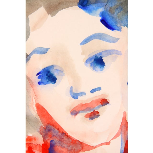 Portrait of a Diva, Watercolor Painting - Image 3 of 4