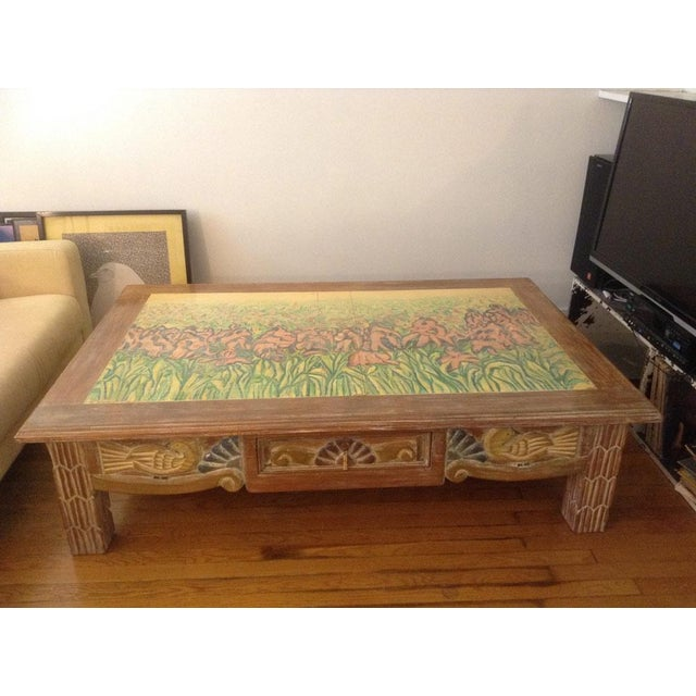 This was my mother's long desired and saved-up-for coffee table, bought in 1992. We inherited it several years ago, after...