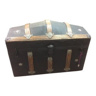 1800's Camelback Trunk For Sale