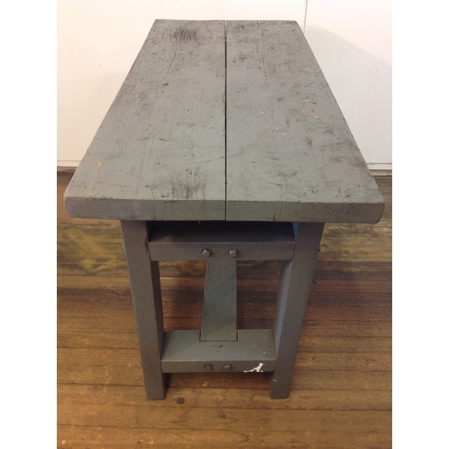 Primitive Industrial Gray Potting Table - Image 7 of 10