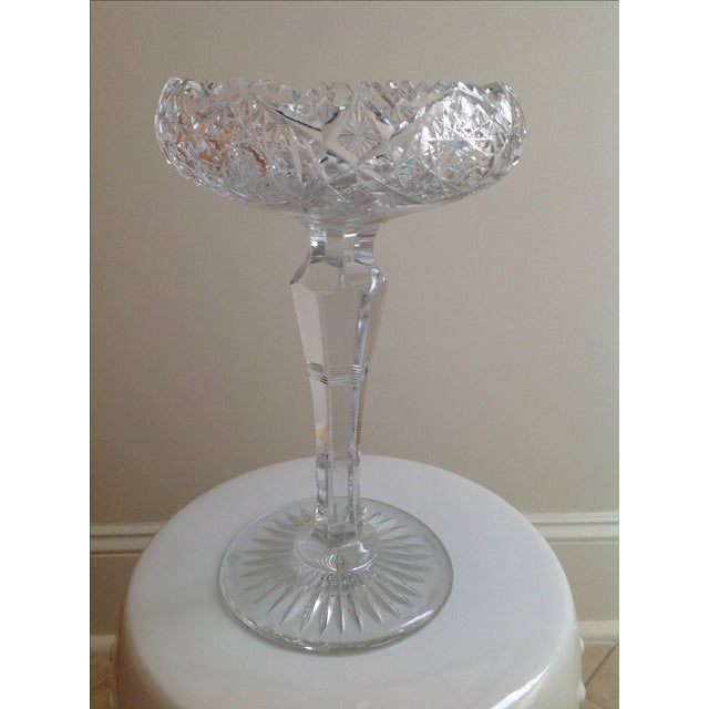 American Brilliant Cut Glass Compote - Image 6 of 6