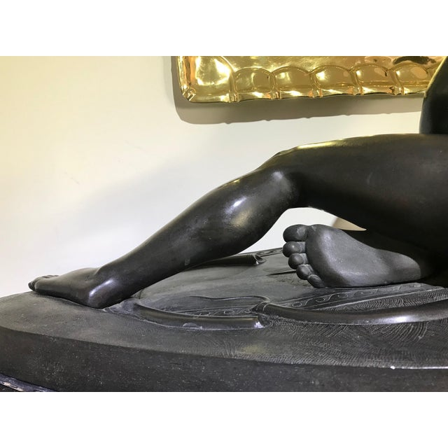 """Bronze 19th Century """"The Dying Gaul"""" Bronze Statue Signed M Amadoi N 'Napoli' For Sale - Image 7 of 13"""