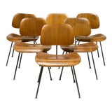 Image of Early Ray and Charles Eames for Herman Miller Dcm Chairs, Circa 1950- Price Is Per Chair For Sale