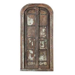 Antique Window Frame W/Doors For Sale